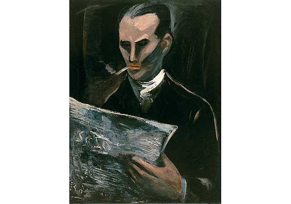 (Русский) Читающий журнал (Портрет Ивана Августовича Дусса, брата жены художника)