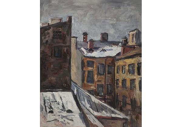 Ленинград. Двор из окна художественной мастерской