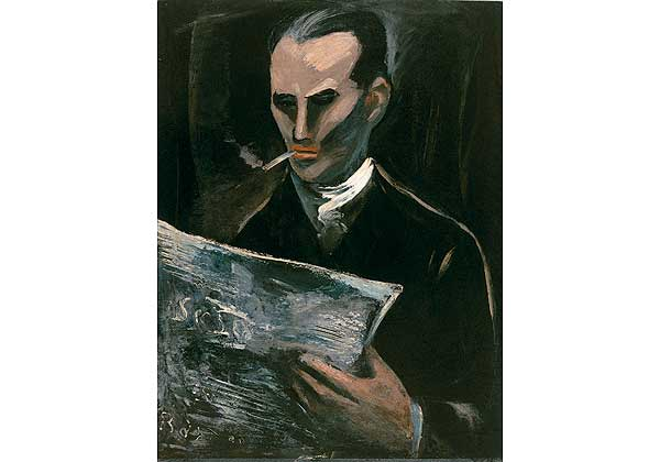 Man Reading a Magazine. (Portrait of Ivan Duss)