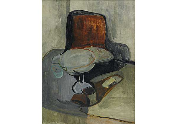 Still life with a Vase and Black Casket