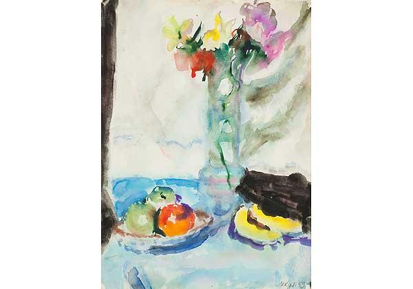 Narcisses et fruits