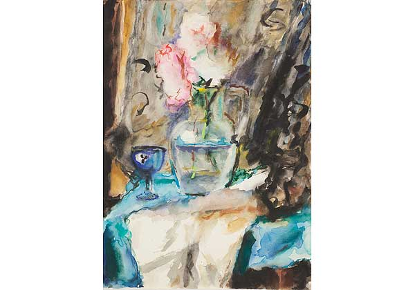 Still Life with a Blue Shot Glass