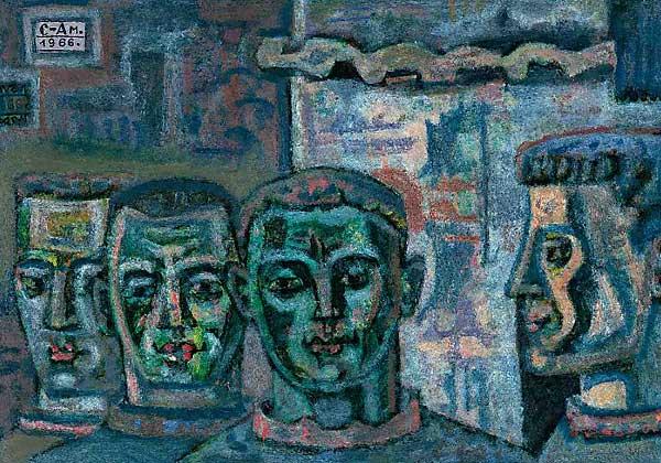 Quatre jeunes visages