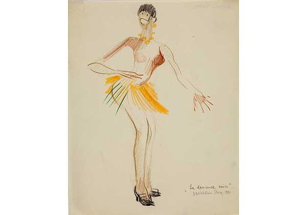 La danseuse noire. (Танцовщица Жозефина Бейкер в оранжевой юбке)