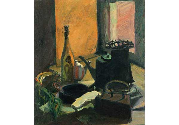 Still life with a small stove