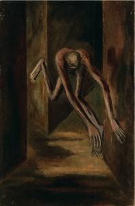 Голополосов Борис Александрович (1900–1983) Человек бьётся головой о стену. 1937 Холст, масло 107 х 71