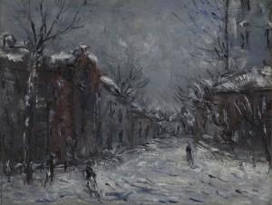 Соколов Михаил Ксенофонтович (1885-1947) Зимний день. 1930-е  Бумага на картоне, масло. 30 х 39