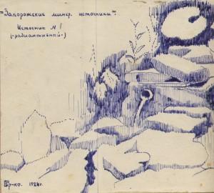 Рисунок Б. Ермоленко, 1924 г.