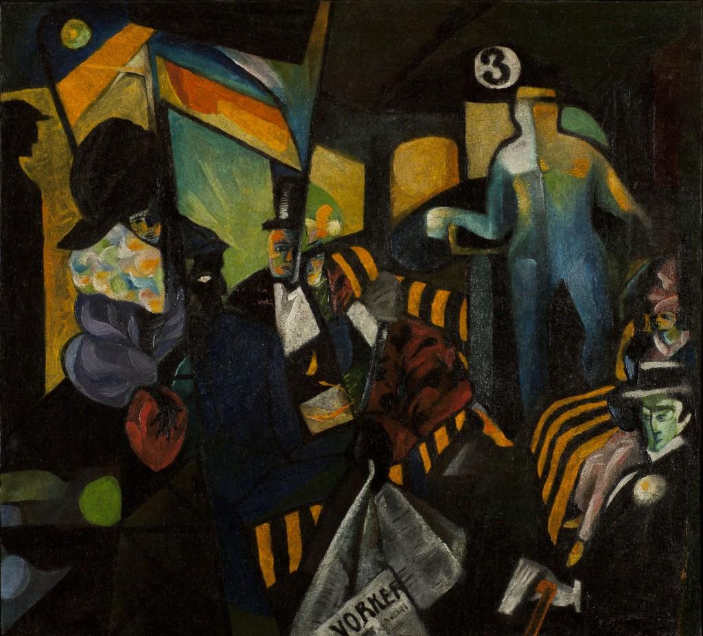 """Картина Оскара Янкуса """"Рабочий"""", 1921"""