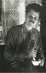 Фёдор Семёнов- Амурский в мастерской. Октябрь 1934