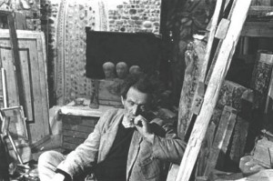 Борис Чернышёв в мастерской. 1965–1966