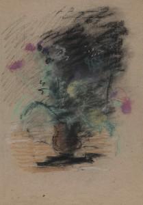Чернышев Борис Петрович (1906-1909) Букет в глиняном горшке (№ 1187). Конец 1950-х - начало 1960-х Бумага, пастель.