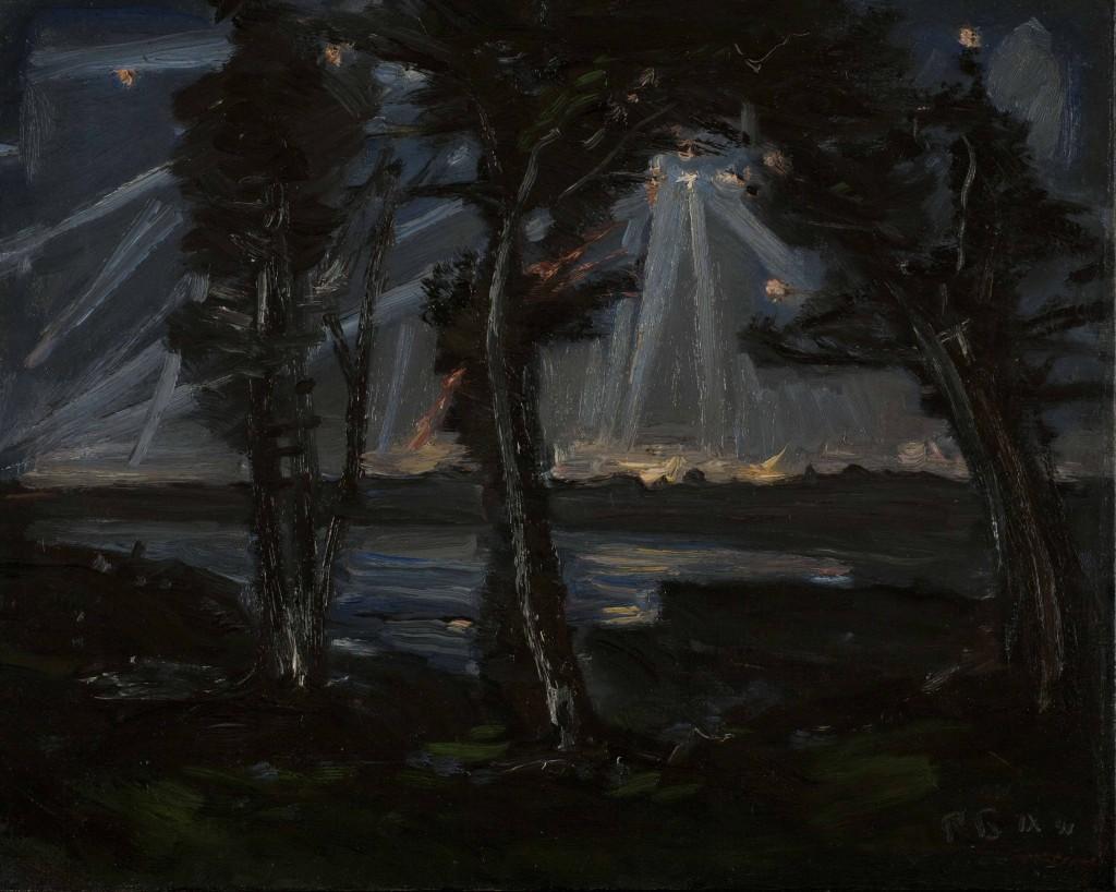 Ростислав Николаевич Барто (1902, Москва — 1974, Москва) «Небо над Москвой». 1941